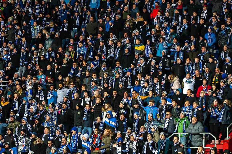 Utkání 20. kola první fotbalové ligy: Baník Ostrava - Sparta Praha, 14. prosince 2019 v Ostravě. Na snímku fanoušci FC Baník Ostrava.