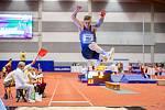 Halové mistrovství ČR mužů a žen v atletice, 23. února 2020 v Ostravě. Skok daleký muži Radek Juška (PSK Olymp Praha).