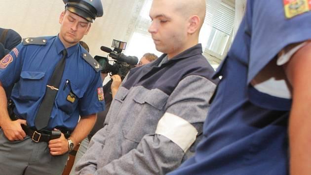 Čtyřiadvacetiletý Radim Halamíček nejméně šestadvacetkrát udeřil kladivem do hlavy, obličeje a krku svou oběť, šestapadesátiletého Bedřicha Hanzelku.