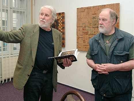 Rudolf Valenta a Eduard Ovčáček se sešli v ostravské Galerii 7.