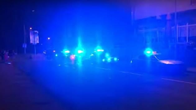 Záběr z videa k zásahu policie v Ostravě-Zábřehu..