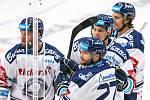 Utkání 3. kola hokejové extraligy: HC Vítkovice Ridera - Bílí Tygři Liberec, 20. září 2019 v Ostravě. Radost Vítkovic.