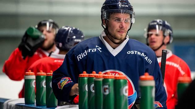 Hokejisté Vítkovic zahájili přípravu na ledě před novým ročníkem extraligy, 29. července 2019 v Ostravě.