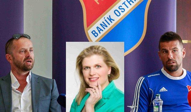 Majitel Baníku Václav Brabec (na snímku vlevo), Darina Vymětalíková a Milan Baroš.
