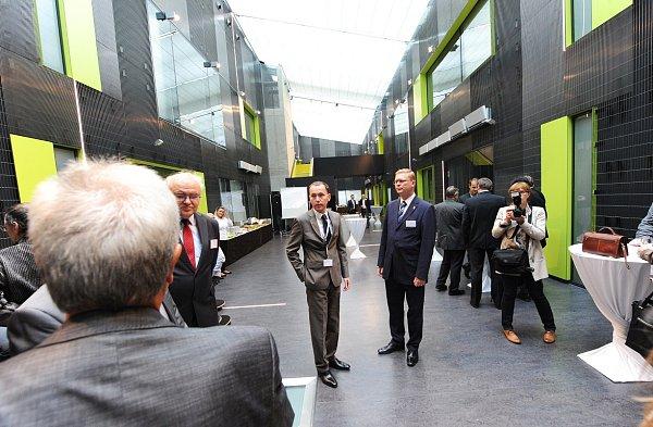 Otevření budovy Národního superpočítačového centra IT4Innovations vareálu Vysoké školy báňské Technické univerzity Ostrava.