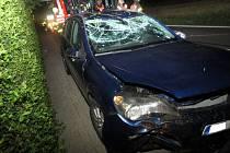 Auto opilé řidičky skončilo v příkopu.