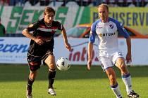 René Bolf v utkání Baník Ostrava - Slavia Praha na Bazalech