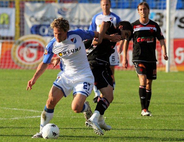 Mario Lička v utkání Baník Ostrava - Slavia Praha na Bazalech