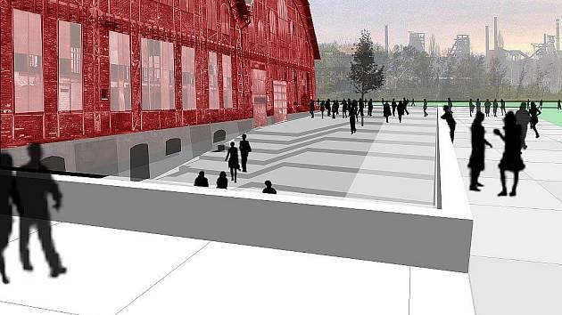 Přístup do historických objektů bude po rekonstrukci řešen rafinovaným systémem ramp a teras. Návštěvník vpluje do vstupní haly neboli podzemní ulice, která bude vybudována pod terénem.