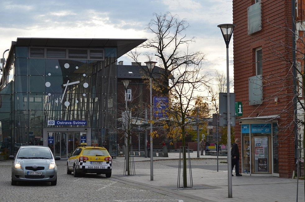 Infocentrum u nádraží Ostrava-Svinov.