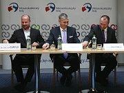 Evžen Tošenovský ve volebním štábu ODS.