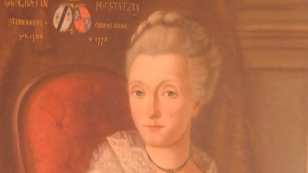 Obraz hraběnky Podstatské.