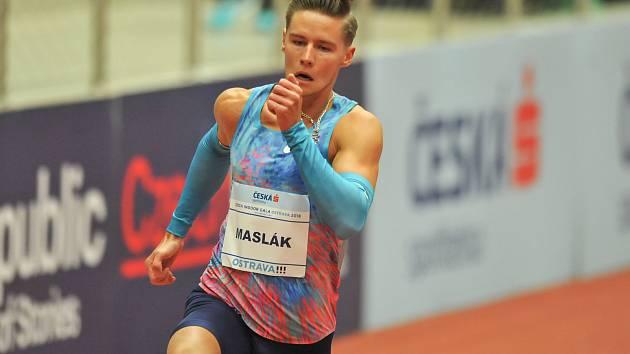 Mezinárodní halový atletický mítink EEA Czech Indoor Gala 25. ledna 2018 v Ostravě. Maslák.