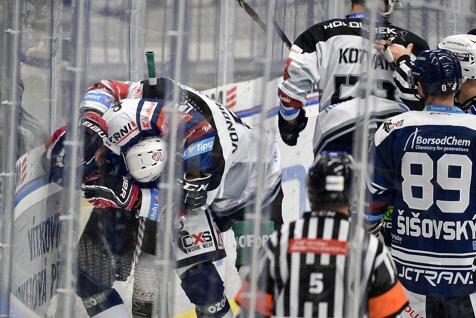 Utkání 8. kola hokejové extraligy: HC Vítkovice Ridera - HC Energie Karlovy Vary, 9. října 2020 v Ostravě. (zleva)