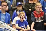 Superfinále play off florbalové superligy mužů: Technology florbal Mladá Boleslav - 1. SC TEMPISH Vítkovice, 14. dubna 2019 v Ostravě. Na snímku fanoušci.