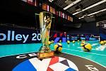Zlatá trofej pro volejbalové mistry Evropy dorazila do Ostravar Arény.