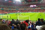 Čeští fotbalisté sice ve Wembley nezazářili, čeští fanoušci však ano. Památku na zápas si udělal i čtenář Deníku z Moravskoslezského kraje Milan Niemczyk.