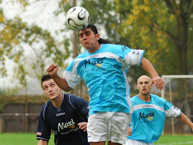 Ze zápasu fotbalistů Heřmanic