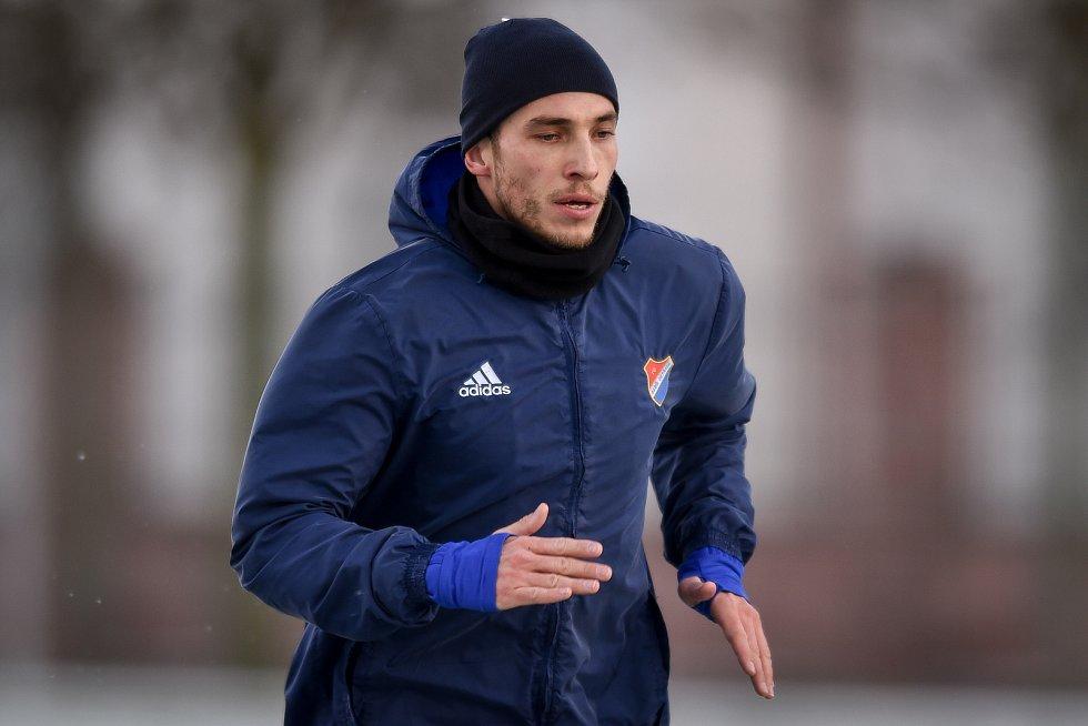 Zimní příprava FC Baníku Ostrava, 3. ledna 2019 v Ostravě. Na snímku Nemanja Kuzmanovič.