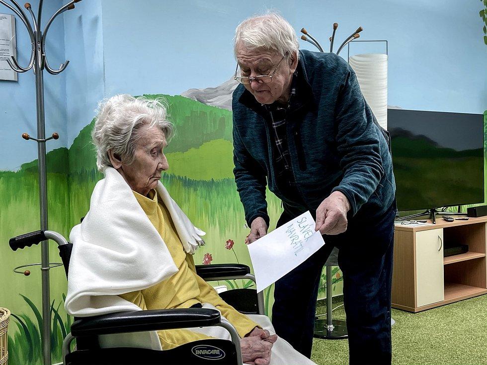 Redakce Deníku navštívila seniorku v domově pro seniory Slunovrat, 4. prosince 2019 v Ostravě.