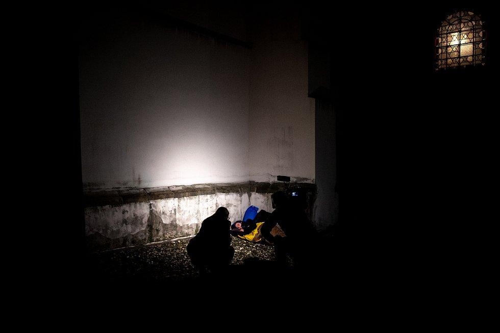 Osmý ročník akce pořádané na podporu lidí bez domova - Noc venku 2019 v Ostravě.