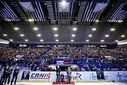Utkání 28. kola hokejové extraligy: HC Vítkovice Ridera - HC Sparta Praha, 21. prosince 2018 v Ostravě. Klub HC Vítkovice Ridera oslavil 90. výročí svého založení a zároveň ocenil legendu, současného čestného prezidenta klubu Františka Černíka.
