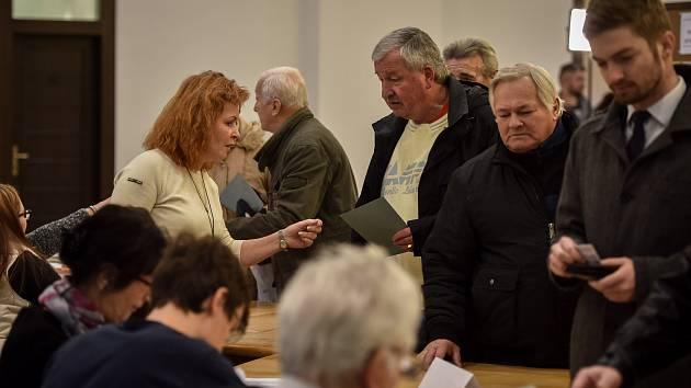 Prezidentské volby v Ostravě, pátek 12. ledna 2018.