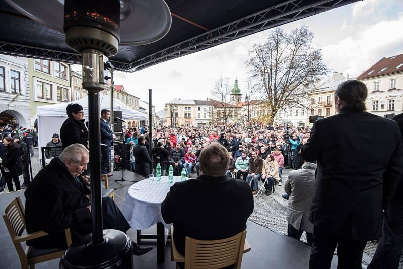 Miloš Zeman ve Frenštátě pod Radhoštěm, listopad 2016.