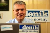 Lídr ODS pro volby do ostravského zastupitelstva Dalibor Madej během on-line rozhovoru se čtenáři Deníku.