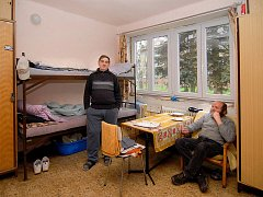 Azylový byt pro muže Oblastní charity Rokycany. Ilustrační snímek.