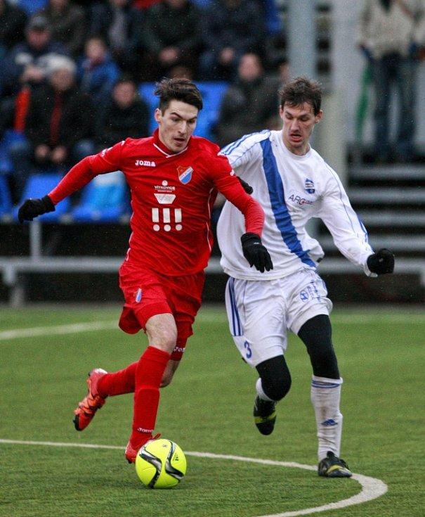 Fotbalisté druholigového Frýdku-Místku v rámci zimního turnaje Tipsport liga hostili ve frýdeckých Stovkách prvoligový Baník Ostrava a diváci se rozhodně nenudili.