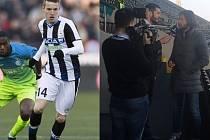 Marek Jankulovski (na snímku vpravo) poskytl v Udine desítky rozhovorů. Hodně otázek bylo směřováno i k mladému českému záložníkovi Jakubu Janktovi (na snímku vlevo).