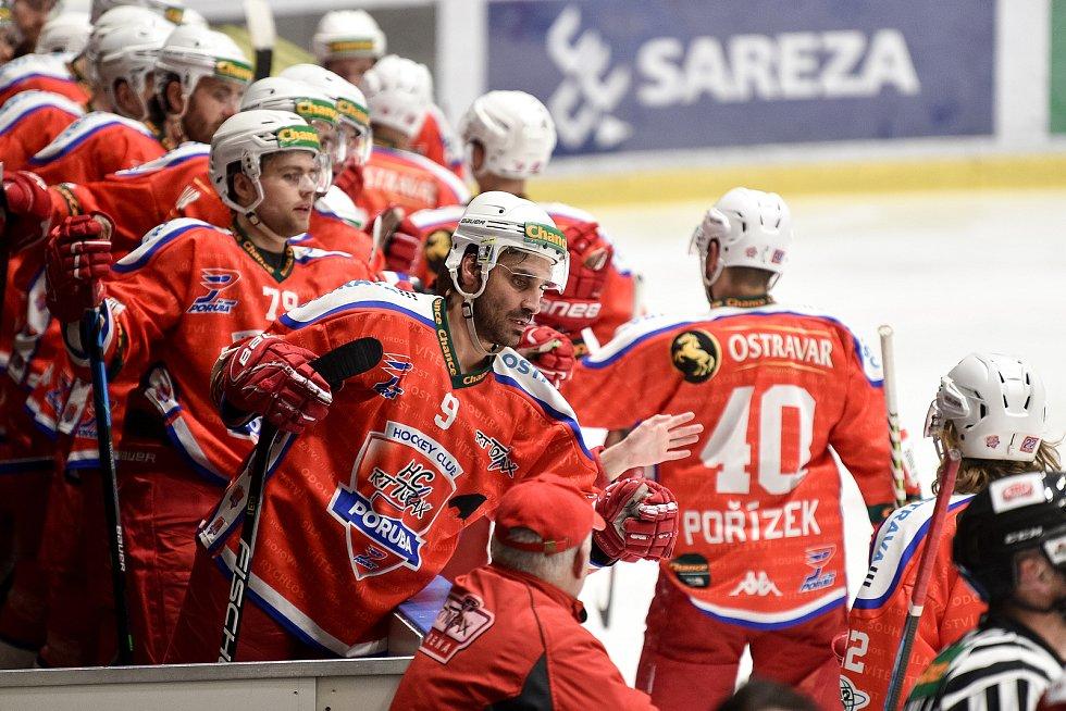 Hokejová Chance liga HC RT TORAX Poruba  - HC Frýdek-Místek, 4. ledna 2021 v Ostravě.