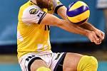 Zápas CEV Volleyball Cup 2020, VK Ostrava - Leo Shoes Modena, 12. února 2020 v Ostravě. Damian Sobczak z Ostravy.