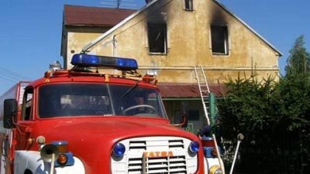 Požár ve Městě Albrechticích