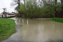 Následky zaplavení v Polance nad Odrou.