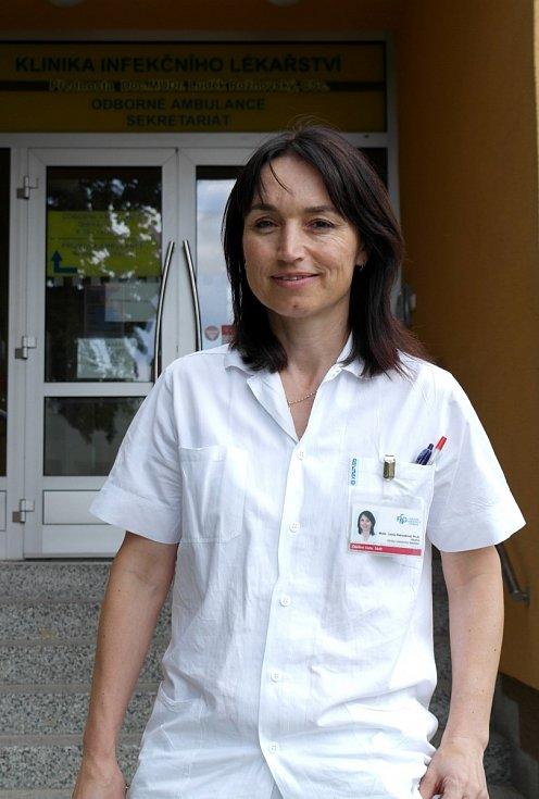 Lékařka Lenka Petroušová.