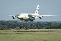 Letadlo Antonov An-124 Ruslan s registrací UR-82073 přistál dne 28. srpna 2020 na Letišti Leoše Janáčka v Mošnově.