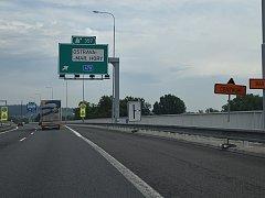 Snímek z 8. července - druhého dne, při kterém řidiči v Ostravě museli zdolávat objízdné trasy.
