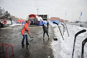 Olympijský festival v Ostravě. Snímek z prvního dne zahájení festivalu 9. února 2018.