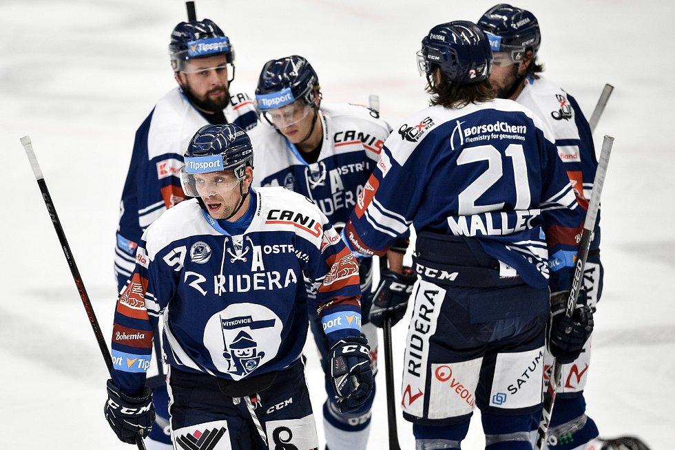 Utkání 24. kola hokejové extraligy: HC Vítkovice Ridera - HC Dynamo Pardubice, 4. prosince 2020 v Ostravě. (vlevo) Jan Hruška z Vítkovic.