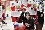 Mistrovství světa hokejistů do 20 let, finále: Rusko - Kanada, 5. ledna 2020 v Ostravě. Na snímku Dylan Cozens.