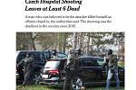Světové média kde byla fotografie ze střelby ve FNO, noviny zde dne 11. prosínce 2019. Na snímku internetové noviny The New York Times.