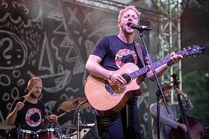Festival Štěrkovna Open Music 2021 se mimořádně uskutečnil v hornickém muzeu Landek Park, 31. července 2021 v Ostravě. Jiří Krhut (na snímku) & Štěpán Kozub.