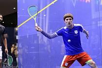 Ostravský squashista Jakub Solnický hraje na turnaji PSA v Praze o finále. Foto: Irena Vanišová