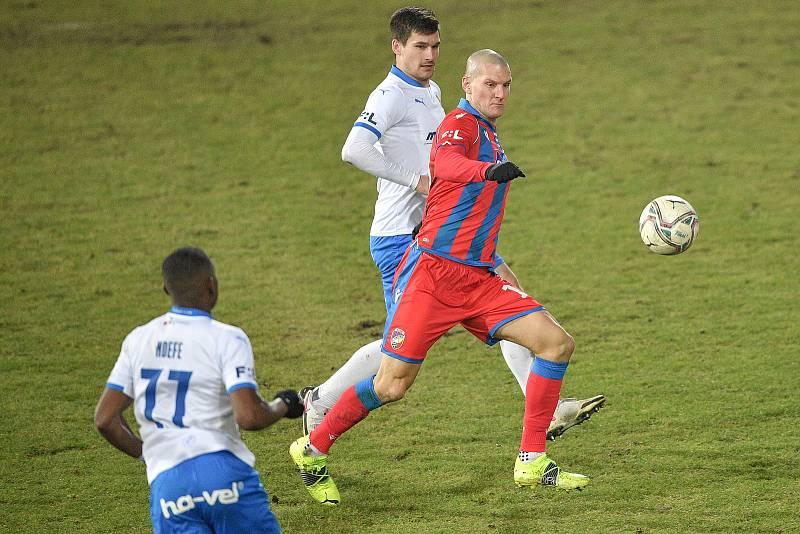 Utkání 17. kola první fotbalové ligy: FC Baník Ostrava – FC Victoria Plzeň, 31. ledna 2021 v Ostravě. Zdeněk Ondrášek z Plzně.