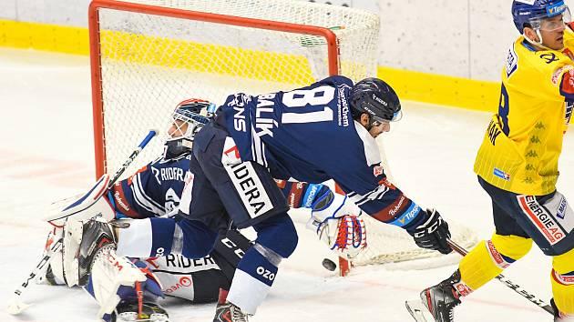 Hokejisté Vítkovic utrpěli v pátečním utkání s Českými Budějovicemi debakl 0:7. Foto: Petr Kotala