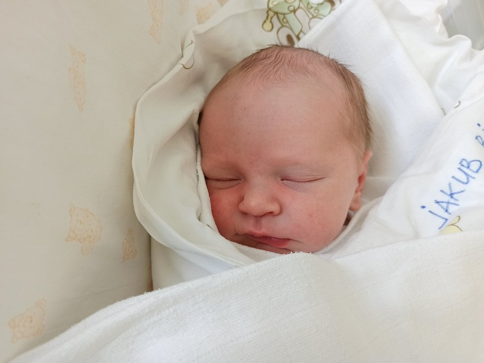 Jakub Bielesz, Milíkov, narozen 25. dubna 2021, míra 49 cm, váha 3045 g Foto: Gabriela Hýblová