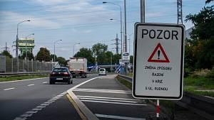 Dopravní situace na Místecké ulici v Ostravě