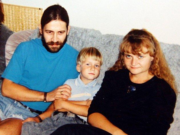 Malý Martin Chodúr se svými rodiči.